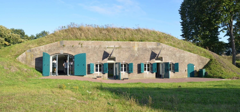 Vooraanzicht bunker